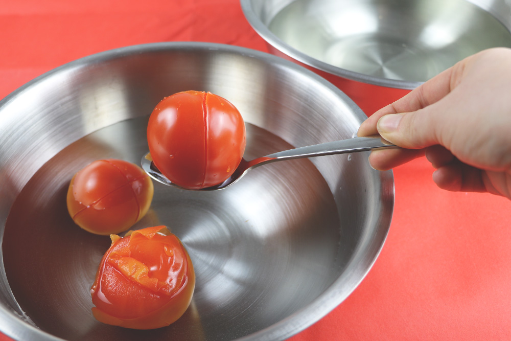 Tomaten abschrecken