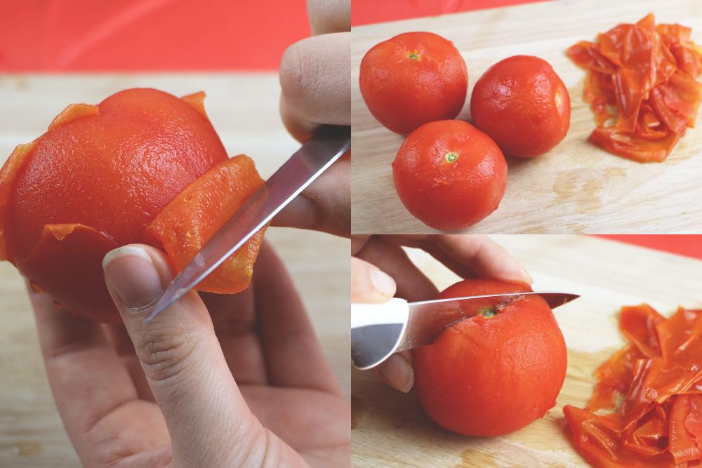 Tomaten enthäuten