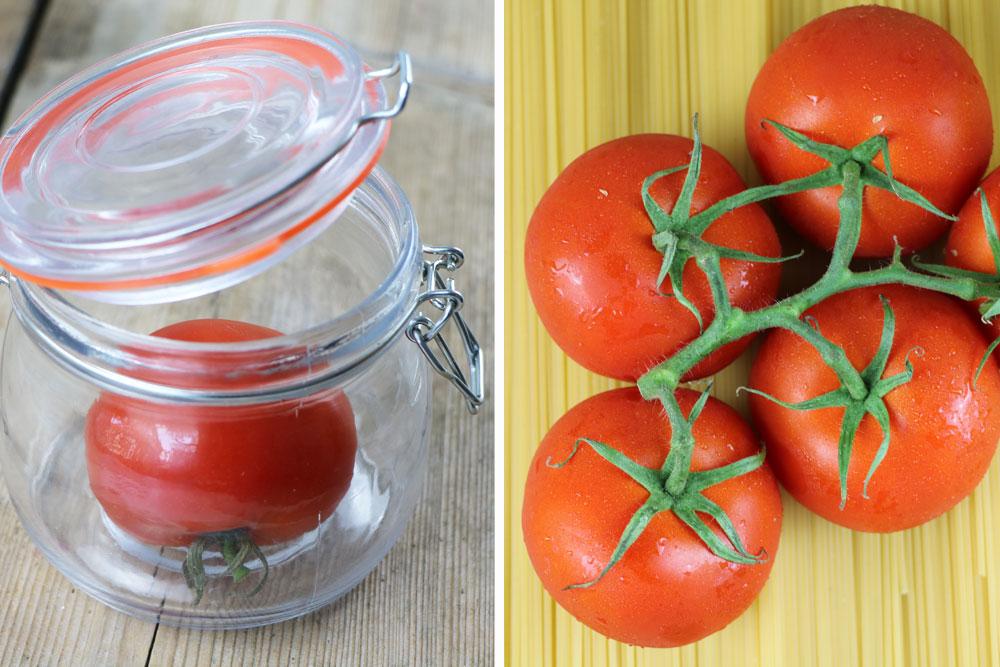 Tomaten im Einweckglas nachreifen lassen