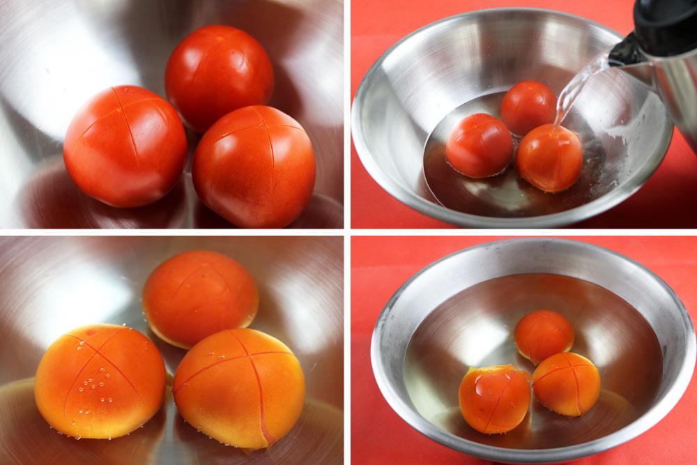 Tomaten blanchieren