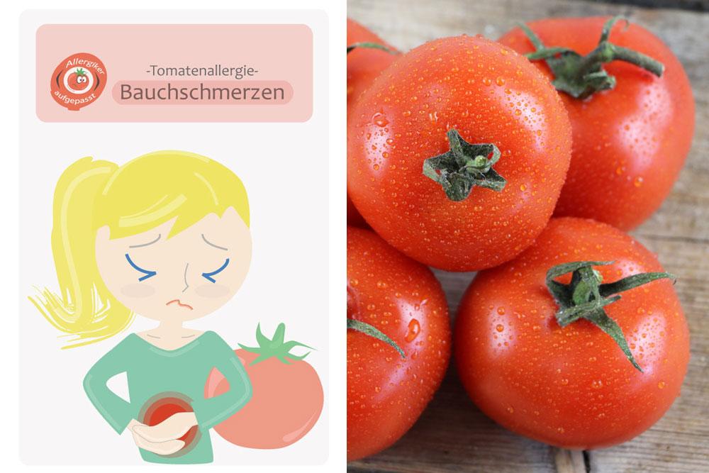 Tomatenallergie kann Bauchschmerzen auslösen