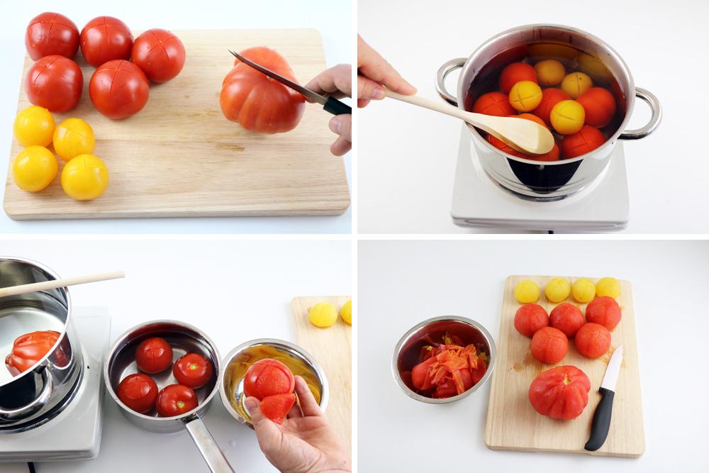 Tomaten blanchieren und häuten