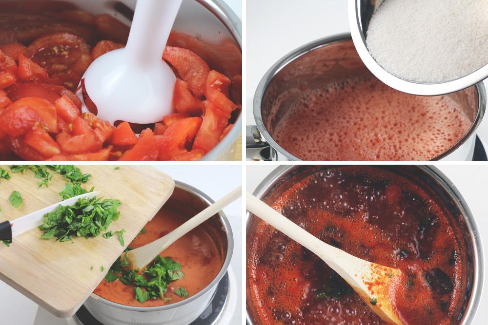 Tomatenmarmelade kochen