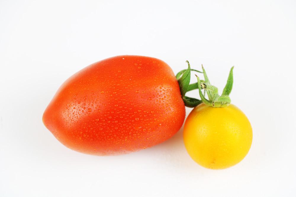 Romate Tomate und gelbe Tomate