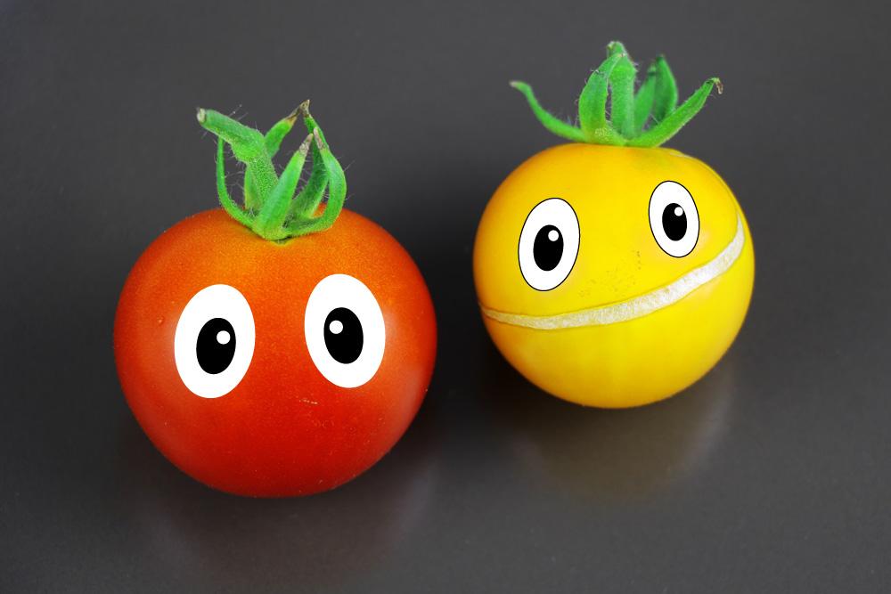 Tomaten auf den Augen haben